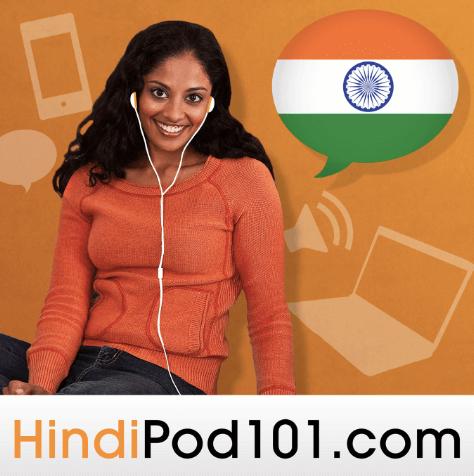 Woman using HindiPod101